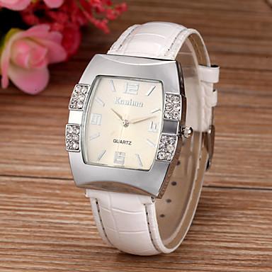 Damen Quartz Armbanduhr Imitation Diamant PU Band Glanz Simulierte Diamant-Uhr Modisch Weiß Blau Rosa Lila Rose