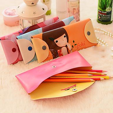 koreai álom lány tolltartó teszik ki kozmetikai táska pénztárca (véletlenszerű szín)