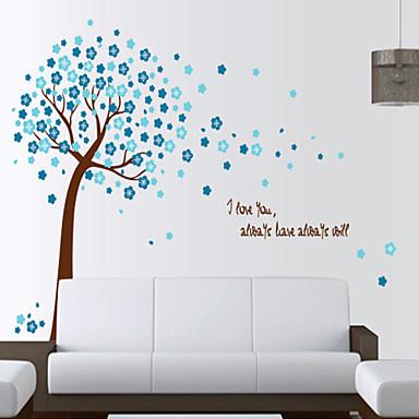 Blomster Tegneserie Botanisk Veggklistremerker Fly vægklistermærker Dekorative Mur Klistermærker, Vinyl Hjem Dekor Veggoverføringsbilde