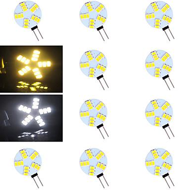 G4 LED Bi-pin Işıklar 15 led SMD 5730 Sıcak Beyaz Serin Beyaz 500-800lm 2700-3500/6000-6500K AC 12V