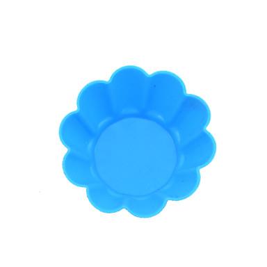 цветок сливы стиль силиконовые торт плесень шоколадный пудинг желе чашки булочки формы для выпечки (цвет случайный)