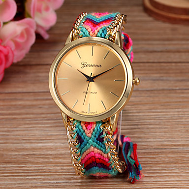 Women Big Circle Dial National Hand Knitting Brand Luxury Lady Strap Watch C&D-278 Cool Watches Unique Watches Fashion Watch