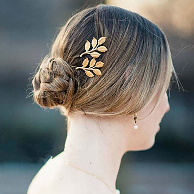 Hoofddeksels Hiusnauha barrette with Bloemen 1pc Bruiloft Speciale gelegenheden  Causaal Helm