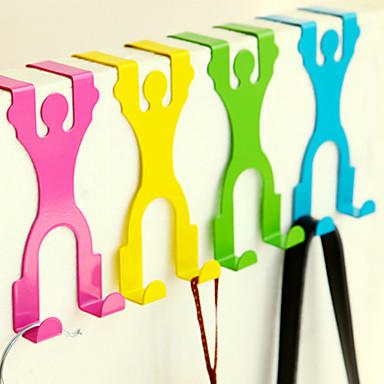 design cartoon dessus-crochet de suspension rack placard porte arrière titulaire (couleur aléatoire) 14,5 * 6,8 * 3cm
