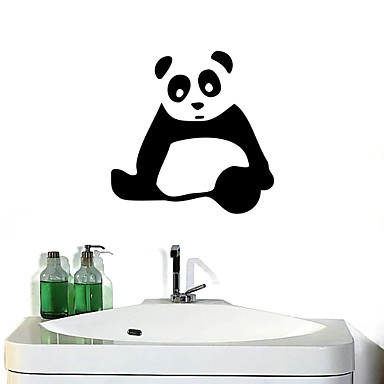 duvar çıkartmaları duvar çıkartmaları, dev panda banyo dekor duvar pvc duvar çıkartmaları