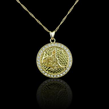 18K Real Gold Plated Allah Muslim Zircon Pendant 2.9*3.9CM