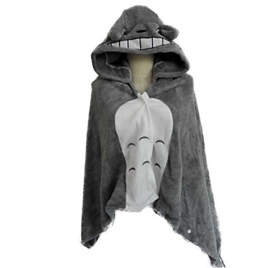 Kigurumi-Pyjamas Katze Totoro Pyjamas-Einteiler Kostüm Korallenfleece Cosplay Für Erwachsene Tiernachtwäsche Karikatur Halloween Fest /