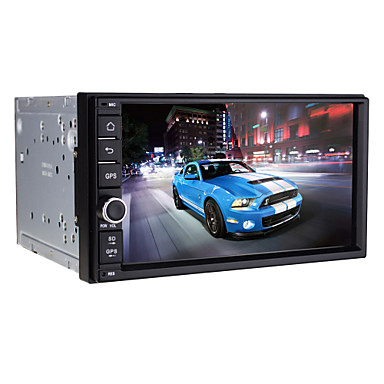 universele auto-radio-speler android4.4 2 din 7 inch 1024 x 600built bluetooth / wifi / gps / RDS / 3D-interface