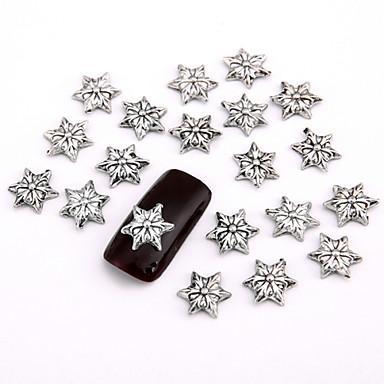 Biżuteria na paznokcie/Inne dekoracje - Palec - Rysunek/Kwiat/Streszczenie/Zwierzę/List/Ślub - Metal - 11*7.5*1.5 - 10