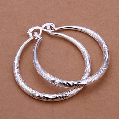 billige Moteøreringer-Dame Dråpeøreringer Machete damer Italiensk Til hverdagsbruk Sølv øredobber Smykker Sølv Til Bryllup Fest Daglig Avslappet