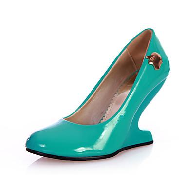 FemininoAnabela / Inovador-Heel translúcido-Preto / Azul / Verde / Rosa / Vermelho-Courino-Festas & Noite