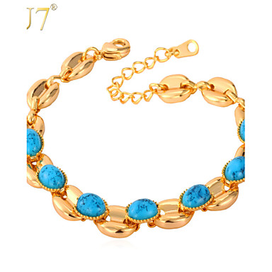 Women's Turquoise Bracelet - Turquoise Charm, Vintage, Party Bracelet Gold / Silver For Daily