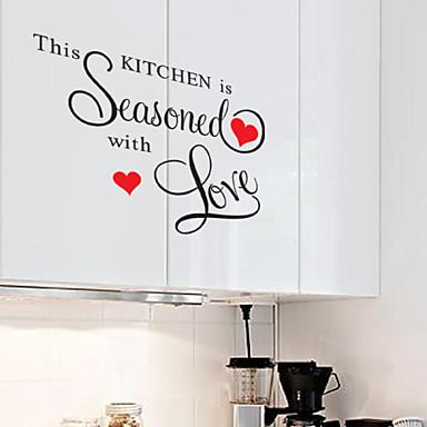τοίχο αυτοκόλλητα αυτοκόλλητα τοίχου, το στυλ αυτό κουζίνα ωριμασμένο αγγλικές λέξεις&αναφέρει αυτοκόλλητα PVC τοίχο