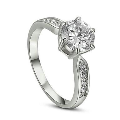 Kadın's Kristal Bildiri Yüzüğü - Simüle Elmas, alaşım Klasik 6 / 7 / 8 Uyumluluk Düğün / Parti / Günlük / Kübik Zirconia