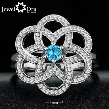 Χαμηλού Κόστους Μοδάτο Δαχτυλίδι-Γυναικεία Cubic Zirconia Ασήμι Στερλίνας Κινεζική κόμπος Μοντέρνα Μοδάτο Δαχτυλίδι Κοσμήματα Ασημί / Μπλε Απαλό Για Πάρτι Ένα Μέγεθος