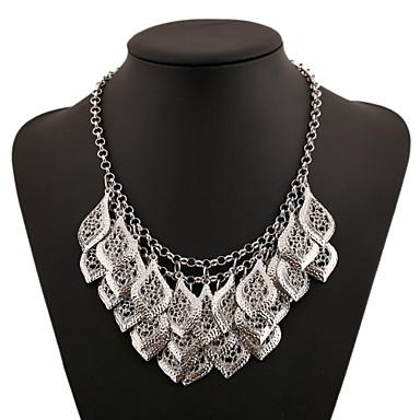Damen Blume Layered Ketten Statement Ketten  -  Mehrlagig Grabado Gold Silber Modische Halsketten Für Party