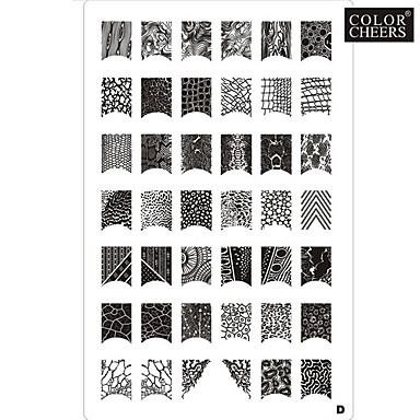 42 Pattern Nail Art Stamp Stamping Image Template Plate