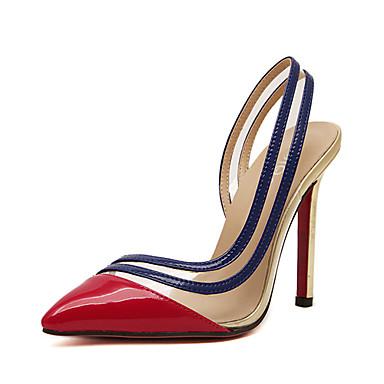 Women's Shoes Leatherette Summer Stiletto Heel / Platform Red / Golden / Dress