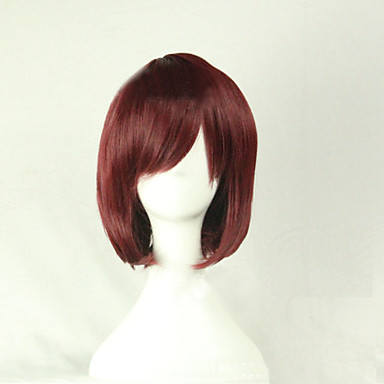 Synthetic Wig / Costume Wigs Straight Asymmetrical Haircut Synthetic Hair Natural Hairline Brown Wig Women's Short Cosplay Wig Capless