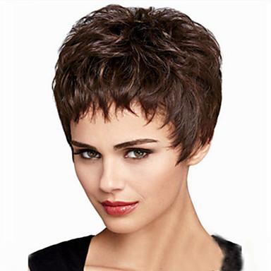 Συνθετικές Περούκες Σγουρά Χωρίς κάλυμμα Συνθετικά μαλλιά