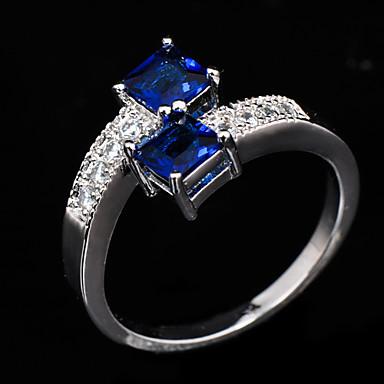 Women's Statement Ring - Zircon, Cubic Zirconia, Imitation Diamond Fashion 6 / 7 / 8 Blue For Wedding / Party / Daily