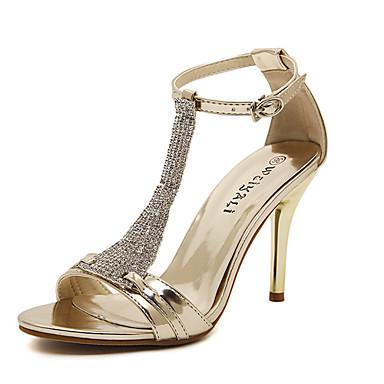 Серебристый / Золотистый - Женская обувь - Для праздника / Для вечеринки / ужина - Лакированная кожа - На шпильке - С открытым носком -