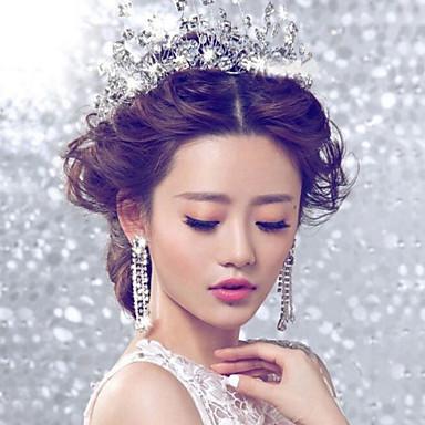 abordables Bijoux de Cheveux-Cristal / Strass / Tissu Diadèmes / Fleurs avec 1 Mariage / Occasion spéciale / Fête / Soirée Casque