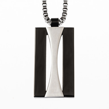 男性用 ステンレス鋼 ゴールドメッキ  -  ファッション ブラック シルバー ペンダント 用途 日常