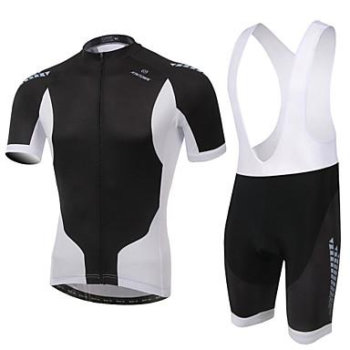 Maillot et Cuissard à Bretelles de Cyclisme Homme Unisexe Manches Courtes Vélo Ensemble de Vêtements Séchage rapide Design Anatomique