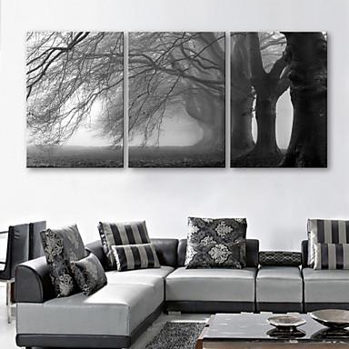 e-FOYER toile tendue art l'arbre décoratif ensemble de 3 de la peinture