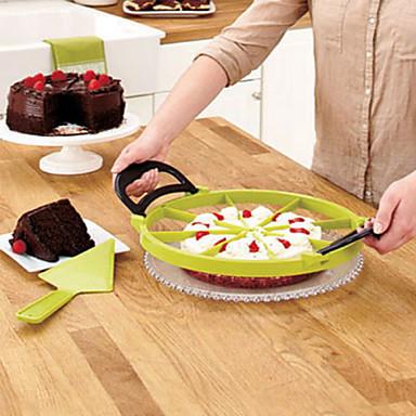 идеально ломтик резак пиццы торт резки пирог делитель десерт (случайный цвет) 30 * 30 * 1,5 см