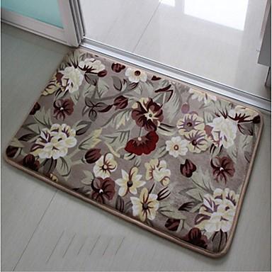 σπίτι της οικογένειας λουλούδι μοτίβο πάτωμα αντιολισθητική χαλάκια σετ μπάνιου