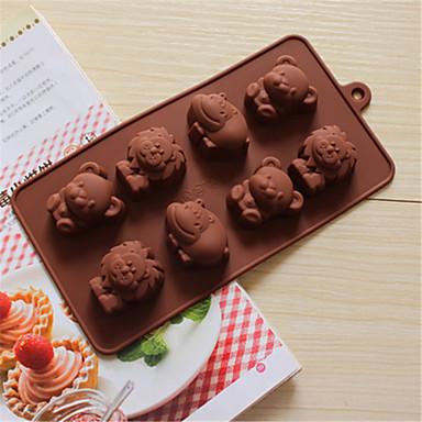 bakeware silikon hippi aslan çikolata pişirme kalıpları yavrularını