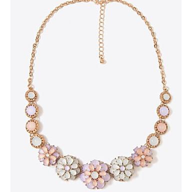 Femme Collier court /Ras-du-cou Forme de Fleur Marguerite Alliage Bonbon Écran couleur Bijoux Pour