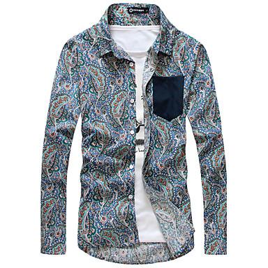 férfi ruházat vintage virág divatos ingek cc37fb833e