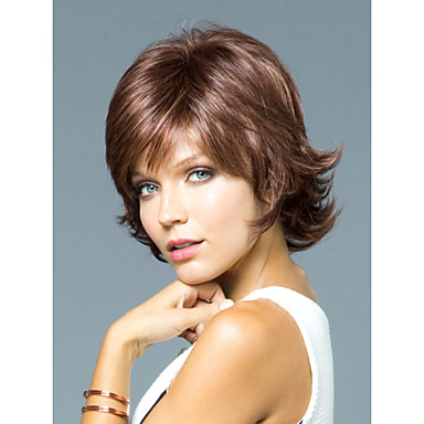 capless wysokiej jakości mono góry krótkie kręcone peruki ludzkich włosów do wyboru 12 kolorów