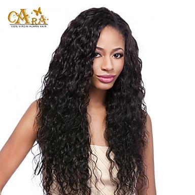 Human Hair Full Lace Wig Curly Density Short / Medium Length / Long Human Hair Lace Wig