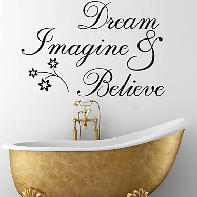 hayal rüya ve alıntı duvar çıkartma zooyoo8182 dekoratif çıkarılabilir vinil duvar sticker inanıyorum