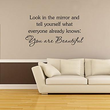 Mondások & Idézetek Falimatrica Word & Quotes Wall Stickers Dekoratív falmatricák, Vinil lakberendezési fali matrica Fal