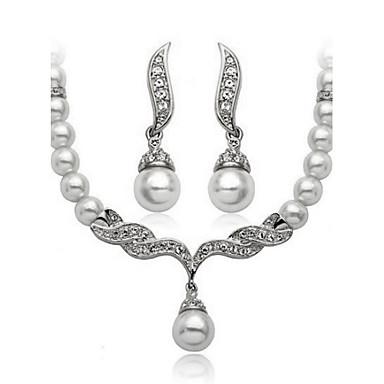 Femme Set de Bijoux Perle Imitation de perle Zircon Alliage Rétro Mignon Soirée Décontracté Le style mignon Mode Soirée Boucles d'oreille