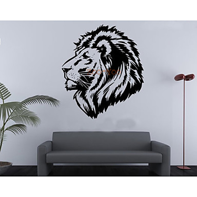 Lion Kid DIY Wall Decals Zooyoo8004 Removable Vinyl Wall Stickers Home Decoration