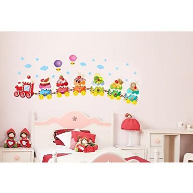 çocuk odası duvar çıkartma zooyoo769 dekoratif çıkarılabilir pvc duvar sticker için dondurma tren