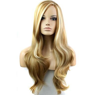 Peruki syntetyczne Gęstość Damskie Blond Karnawałowa Wig Halloween Wig czarna peruka Długo