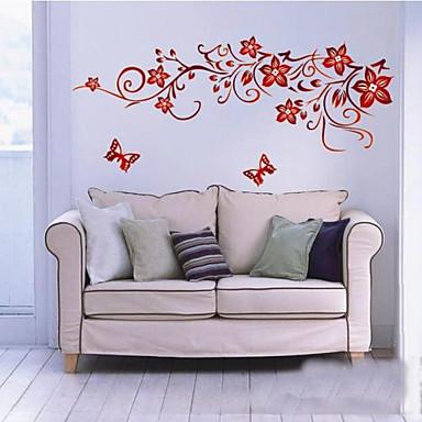 어두운 붉은 꽃 벽 예술 zooyoo1702 거실 DIY 이동할 수있는 벽 스티커 침실 벽 데칼