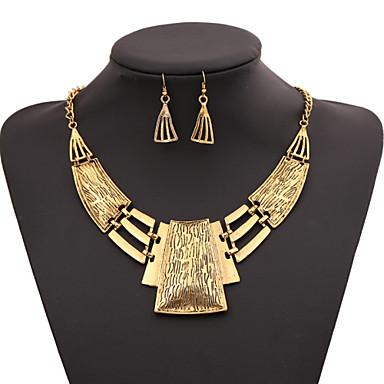 Naisten Geometrinen Korusetti / Statement kaulakorut - Gold Plated Muoti Kulta, Hopea Kaulakorut Käyttötarkoitus Party, Erikoistilaisuus, Syntymäpäivä