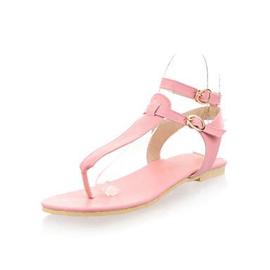 Mulheres Sapatos Courino Primavera Verão Conforto Rasos Caminhada Sem Salto Dedo Aberto Presilha para Social Preto Bege Rosa claro