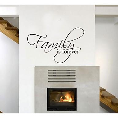семья навсегда домашнего декора цитатой наклейки для стен zooyoo8068 декоративные съемные виниловые наклейки стены