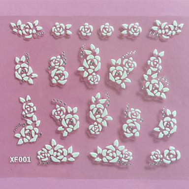 1 - 10.5X7X0.1 - Λουλούδι/Αφηρημένο - 3D Αυτοκόλλητα Νυχιών - από Άλλα - για Δάχτυλο/Δάκτυλο Ποδιού