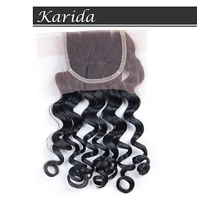 Karida Hair 4X4 Brazilian Lace Front Closure, Grade 6A High Quality Human Hair Closure