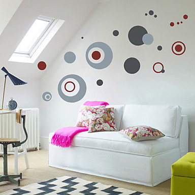 Circle Wall Decals High Quality Wall Arts Home Decor Morden Mural Art Zooyoo7119 Living Room Decorative Stickers